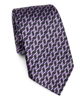 Diagonal Chevron Silk Classic Tie