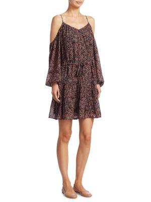 Carmine Woodstock Floral Silk Dress