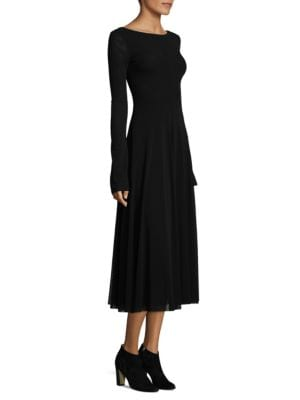 Bateau Long-Sleeve Dress