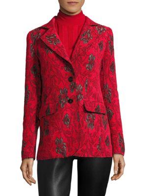 Floral Button-Front Jacket