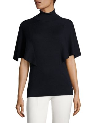 Cashmere & Silk Turtleneck Top