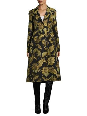 Printed Tailored Notch Coat