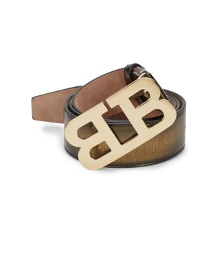 Metallic Ombre Gold Mirror Leather Belt