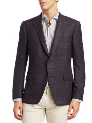 COLLECTION BY SAMUELSOHN Classic-Fit Notch Lapel Sportcoat
