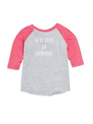 Toddler's & Little Girl's NY Or Nowhere Cotton Graphic Tee