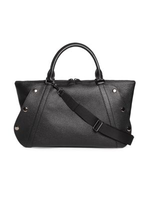 Small Aimee Bi-Color Leather Satchel