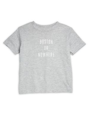Toddler's & Little Kid's Boston or Nowhere Cotton Graphic Tee