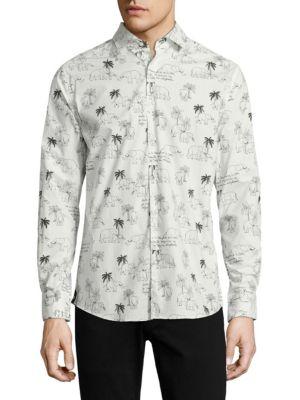 Elephant Print Cotton Shirt
