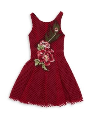 Girl's Rosie Netted Fit-&-Fare Dress