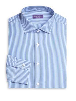 Slim-Fit Bond Barrel Stripe Dress Shirt