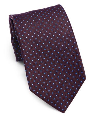 Embroidered Silk Tie