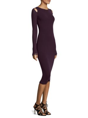 Bodycon Cold Shoulder Dress
