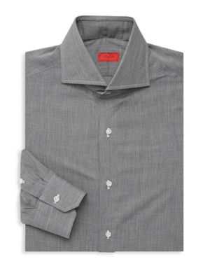 ISAIA Regular-Fit Flannel Dress Shirt