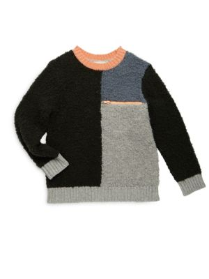 Toddler's, Little Girl's & Girl's Colorblock Boucle Sweater