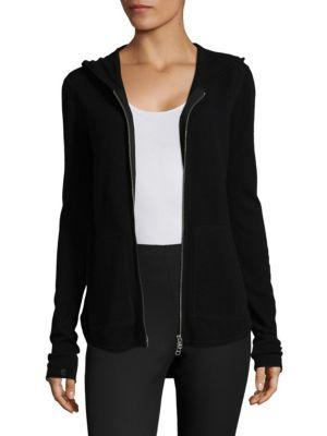 Zipper Front Cashmere & Wool Hoodie