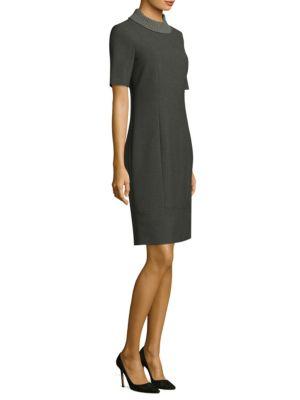 Knit Collar Sheath Dress