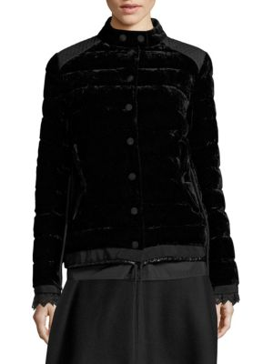 Beatrice Quilted Velvet Jacket