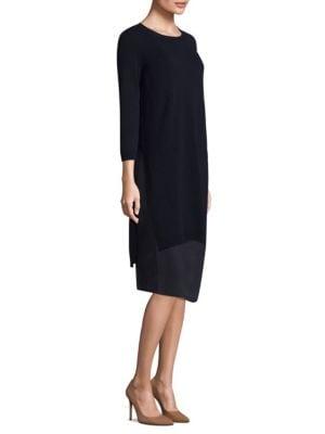 Layer Hem Knee-Length Dress