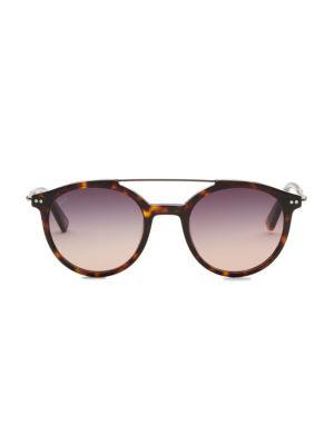 50MM Round Havana Sunglasses