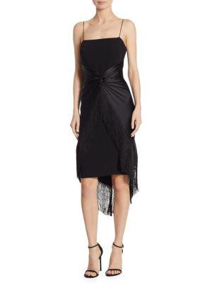 Yolette Fringe Midi Dress