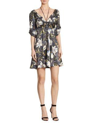 Anders Print Choker Silk Dress