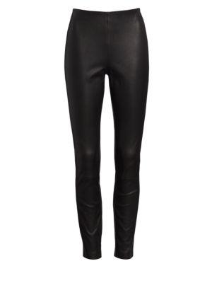 Simone Slim-Fit Leather Pants