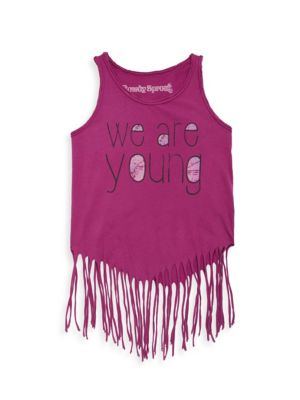Toddler, Little Girl's & Girl's We Are Young Hippie Tank