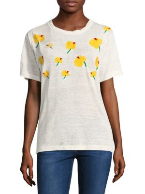 Hawaiian Hibiscus Printed Short-Sleeve Tee