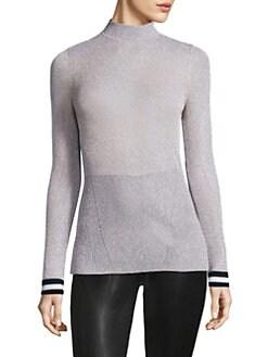 961bd0892d0 Rag   Bone - Priya Lurex Long-Sleeve Top