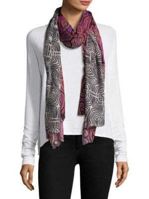 Paisley and Geometric Scarf