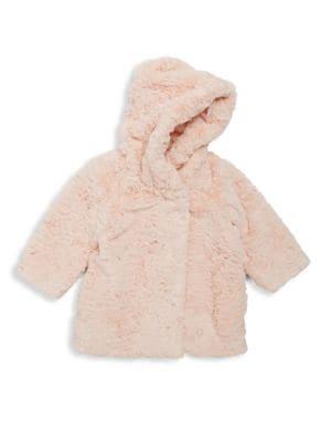 Baby's & Toddler's Faux Fur Printed Coat
