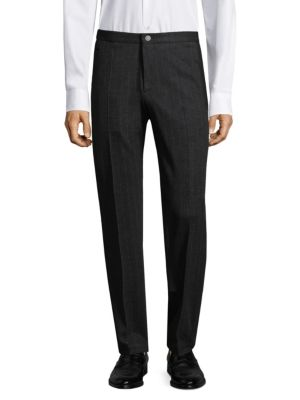 Malone Pinstriped Wool Trousers