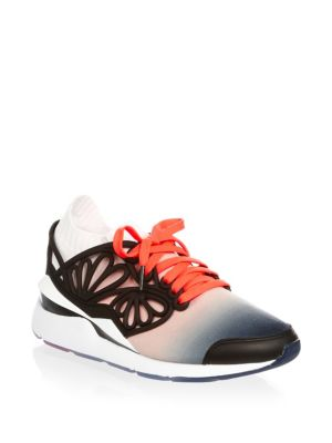 Pearl Cage Fade Leather Sneakers