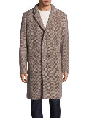 A.P.C. Manteau印花领口翻领大衣