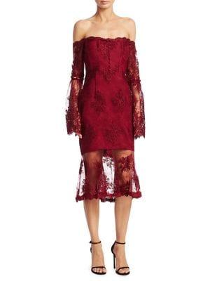Octavia Laced Midi Dress