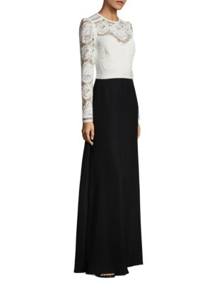 Lace Top Floor-Length Gown