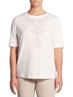 Front Printed Regular-Fit Tee by Basler, Plus Size