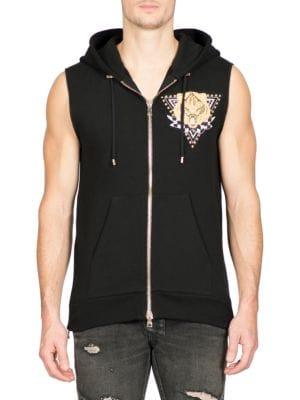 Panther Print Chest Badge Sweatshirt