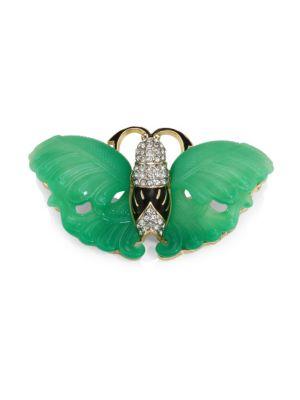 Jade Wing Butterfly Pin