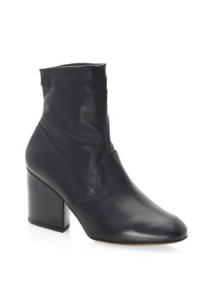 Stretch Tear Leather Booties