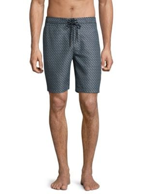 SURF SIDE SUPPLY Stacked Shell Print Board Shorts