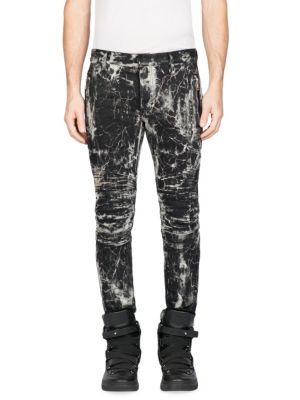 Slim-Fit Printed Pants