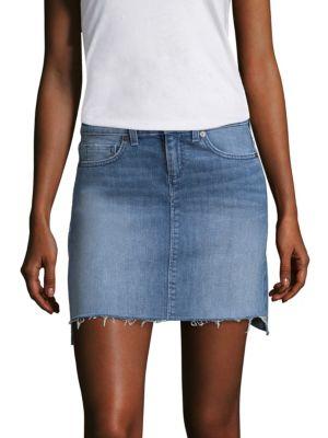 Hi-Lo Denim Mini Skirt