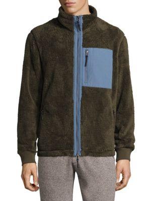 Fuzzy Full Zip Mockneck Jacket