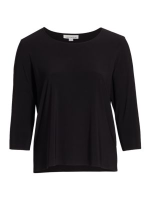 Stretch Knit Three-Quarter Sleeve Top
