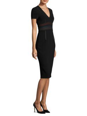 V-Neck Tailored Dress