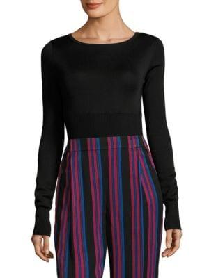 Long-Sleeve Knitted Bodysuit