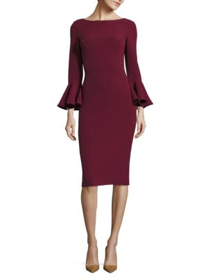 Wool Bell Sleeve Dress