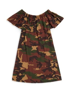 Girl's Camouflage Printed Dress