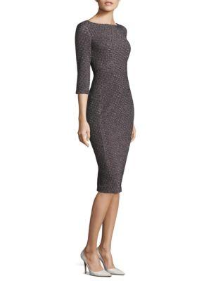 Jacquard Sheath Dress